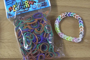 Rainbow Loom pack and bracelet