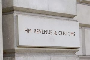 HMRC sign on wall