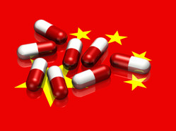 Chinese flag with capsules
