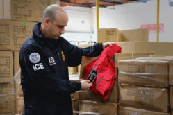 ICE officer at work