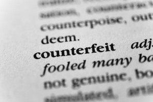counterfeit entry in dictionary