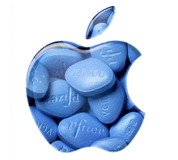 Apple logo with Viagra filling