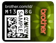 Brother security label via DuPont