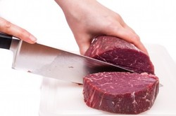 Cutting meat